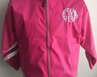 Monogrammed Rain Jacket-Charles River Rain Jacket-Child's Monogrammed Jacket-Child's Jacket-Personalized Full Zip Up Rain Jacket-Rain Jacket
