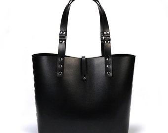 Ebony Tote Bag | Black Tote | Vegan Tote Bag | Made in USA