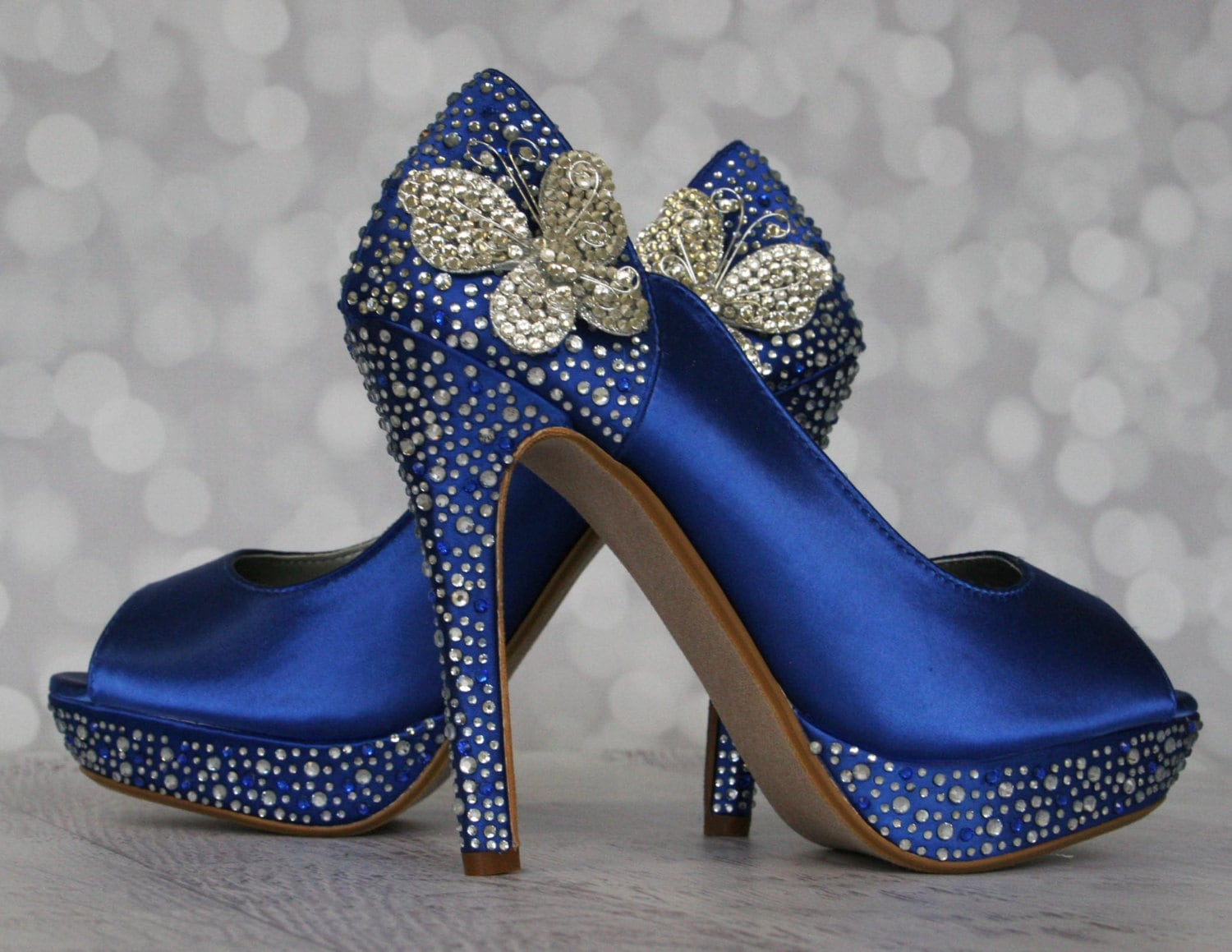 Butterfly wedding blue wedding shoes something blue zoom junglespirit Gallery