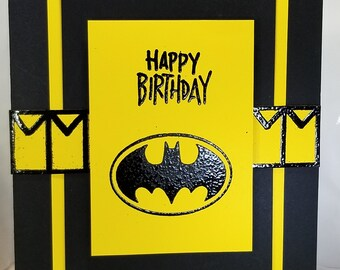 Batman birthday card etsy handmade batman birthday card bookmarktalkfo Choice Image