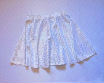 Holographic, Galactic, Sparkly miniskirt with bow set. Harajuku, Fairy Kei, Kawaii