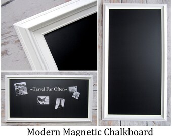 KIDS ORGANIZATION Kids ORGANIZER Playroom Decor Kids Playroom Art Display Board Magnetic Framed Chalk board Long and Narrow Chalkboard