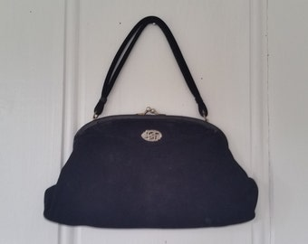 Night at the Opera • 1950s Koret Suede Evening Bag