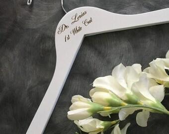 Laser Engraved Hanger/Laser Engraved Doctor Hanger/Doctor/Dr. Hanger /Doctor Gift / Dr.  gift/Engraved hanger