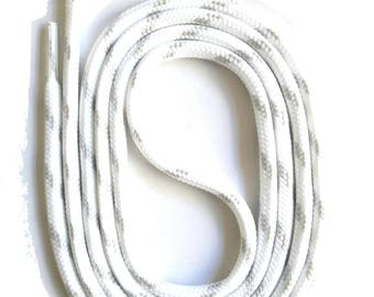 SNORS - lace - safety lace white/light grey, 4 lengths, approx. 5 mm - round laces for work shoes, hiking boots, trekking shoes