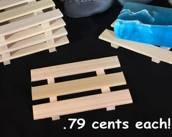 32 thin poplar wood soap dishes - .79 cents each - FIRST come FIRST serve listing - LIMITED to stock on hand