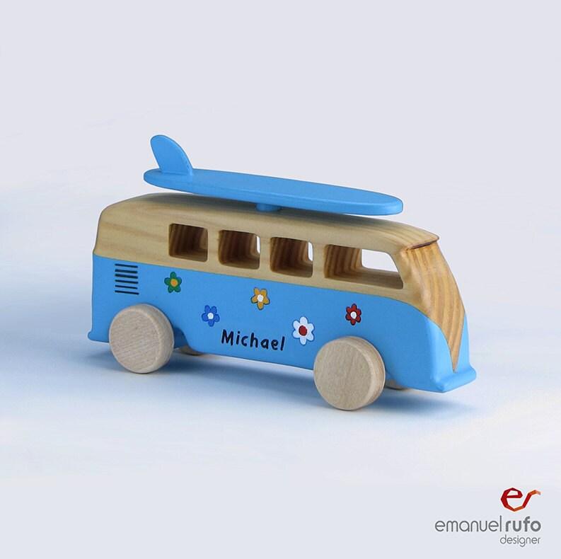 holz bus spielzeug personalisierte holz auto spielzeug f r. Black Bedroom Furniture Sets. Home Design Ideas