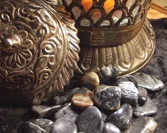 Picasso Stone Tumbled Gemstone (Picasso Jasper, Picasso Marble) - Grounding, Calming, Subconscious, Destiny