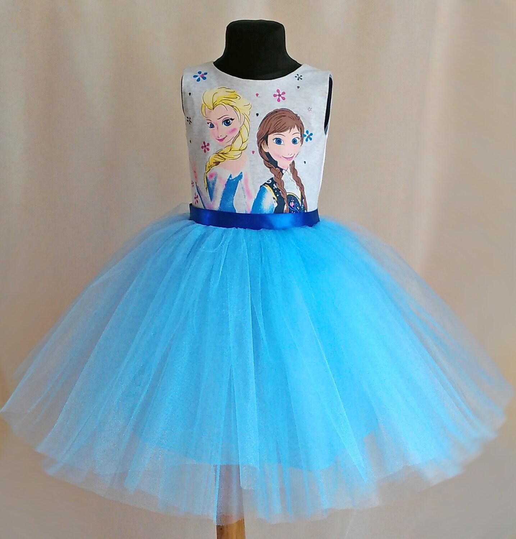 Sanfte Disney Gefrorene Geburtstag Elsa Tutu Kleid Anna