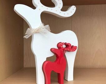 Reindeer pair, reindeer ornament