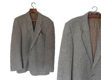 Vintage Tweed Jacket Herringbone Tweed Jacket Gents Vintage Sport Jacket Pure Wool Blazer St Michael UK Size Large
