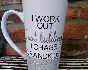 Mothers Day for grandma- Gift for grandma- Gift from kids- Funny mug- Gifts for Her- Grandparents Day- Coffee cup for grandma- Chase toddler