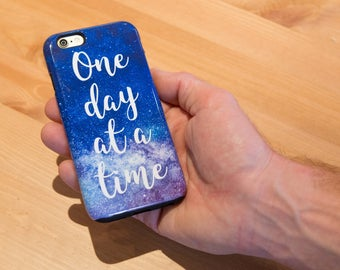 AA - 'One Day at a Time' - Alcoholics Anonymous Phone Case for iPhone and Samsung Galaxy