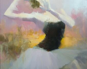Mid Century Wall Art Canvas, Large Painting Print, Contemporary Art Print, Dance Painting, Modern Art Canvas
