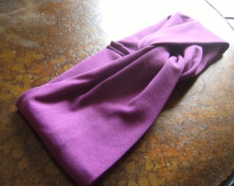 Impassioned Purple Turban Headband