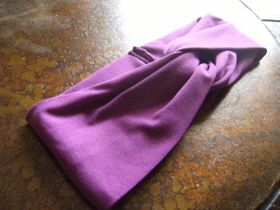Impassioned Purple Turban Headband