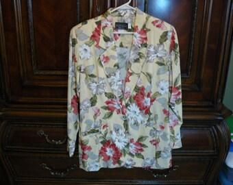 Vintage Carol Anderson Cabi Floral Jacket Size Medium
