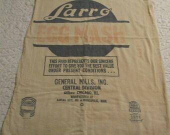 Vintage Advertising Feed Sack Chicago Egg Mash