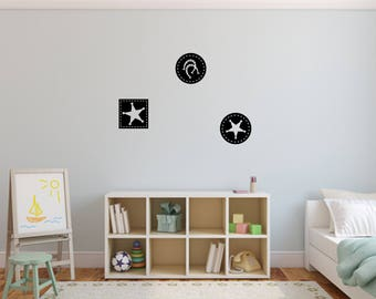 Set of 3 Cowboy Decals Nursery, Children, Wall Decal - Great For Home, Bedroom and Living Room Decor