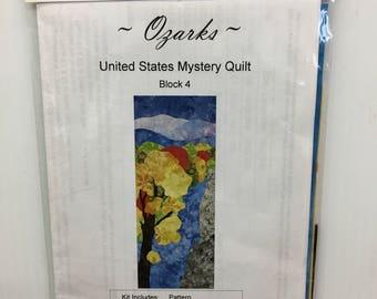 Cantik Batiks Ozarks United States Mystery Quilt Block 4