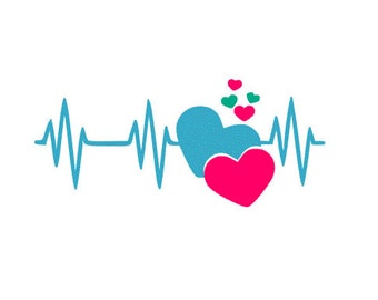 Heartbeat SVG, DXF, AI, ps and pdf Cutting Files for Electronic Cutting Machines
