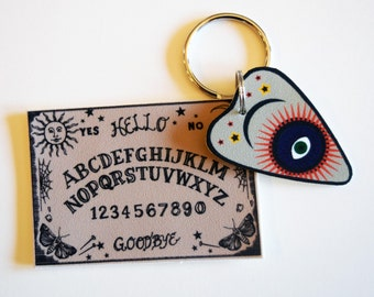 Magic Talking Board and Planchette (Ouija Board) Keychain