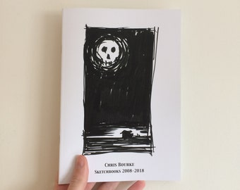 Sketchbook Zine / A5 Artist Book - A collection of images from my sketchbooks spanning 10 years.