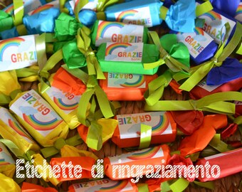 Rainbow Party Thank you tag