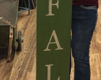 Tall Porch Sign Hello Fall - Single Use Vinyl Stencil ONLY