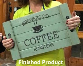 Brewer's Co. Roasted Coffee - SINGLE USE Vinyl Stencil ONLY
