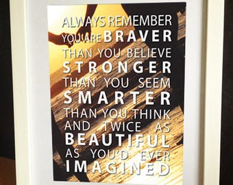 """Always Remember, quote print, download, 10x8"""""""