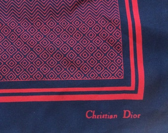 Pocket clutch Christian Dior, vintage silk