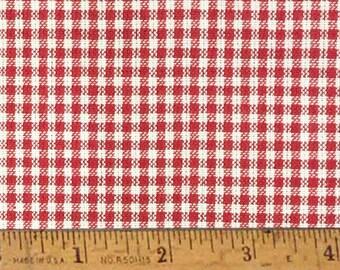 """Cherry Red 2 Homespun Cotton Fabric (Full Yard 36"""" x 44"""")"""