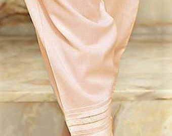 Old Rose Pinkish Peach Shade Cotton Silk Trendy Shalwar with Laces and Pearls