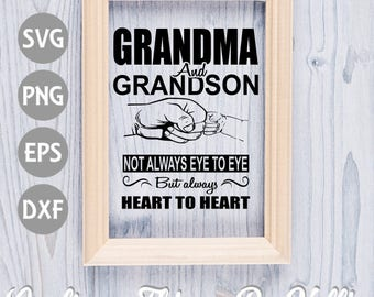 Grandma and Grandson SVG
