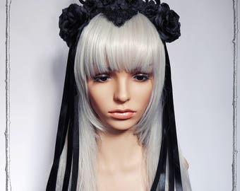 "Headdress ""Condesa""( goth,  fantasy, costume, Renaissance, fascinator )"