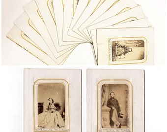 Lot of 21 english cdv photos in 13 pages