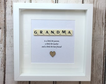 Scrabble wall art, Scrabble picture , birthday gift, Mothers Day gift - Grandma or Granny, Nanny, Gradma quote