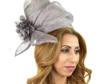 Grey Pintail Fascinator Hat for Kentucky Derby, Weddings on a Headband (40 colours available)