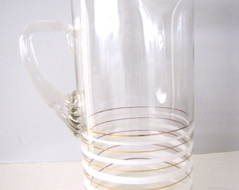 Mid Century Pitcher Modern Barware Cocktail Martini Pitcher from AllieEtCie