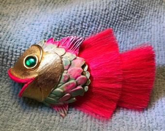 Vintage Avon Hattie Carnegie Fish Brooch