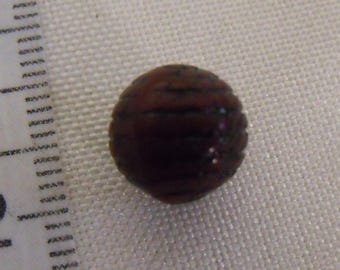 round bead, brown pearl, striped bead, black, pearl 10mm, lot of 10 beads
