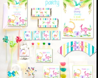 Dinosaur Party Collection ~ Personalized Printable Download