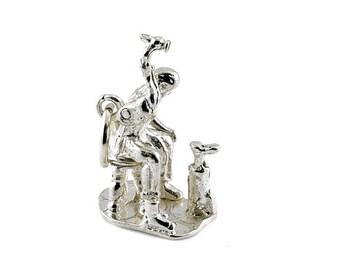 Sterling Silver Movable Cobbler Charm For Bracelets