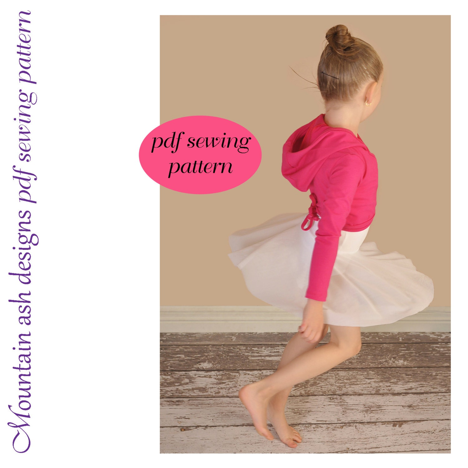 Ballet wrap top sewing pattern girls sizes 1 14 zoom jeuxipadfo Image collections