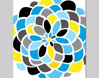 Large Scale Floral - 8x10 Abstract Colorful Floral Print - Modern Floral Art - CHOOSE YOUR COLORS