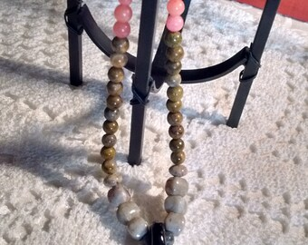 Art Glass Gemstone Necklace: