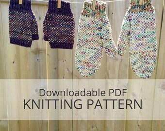 IN A FOG mittens [dowloadable pdf knitting pattern]