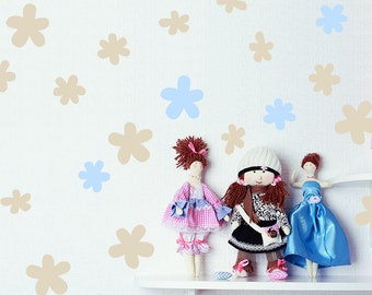 Daisy Wall Decal / 3 size Daisy Decal / Flower sticker / Kids wall decoration / baby room nursery / custom / vinyl removable / gift