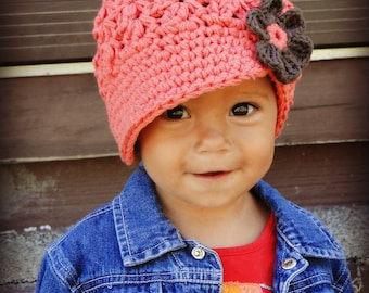 Crochet Baby Hat, kids hat, crochet newsboy hat, hat for girls, women's hat